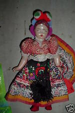 Odd Vintage Hard Plastic Cultural Girl Doll Look