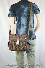 Vintage Casual Medium Size Shoulder Messenger Bag-Brown
