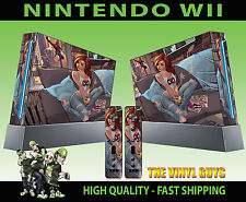 NINTENDO WII STICKER MARY JANE SPIDERMAN GIRLFRIEND REDHEAD SKIN & 2 PAD SKINS