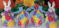 Design Works Floral Felt Bunnies & Eggs Easter Bunny Craft Kit - NEW
