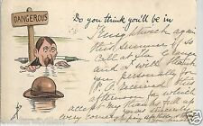 Dangerous - Thin Ice Undivided Back  Do you think you'll be in 1903 Postcard