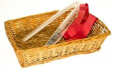 Wicker Willow Hamper Basket with Shredded Paper Cellophane Wrap and Bow