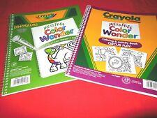 3 Crayola Coloring Books + Mess Free Markers Wonder Dinosaurs Circus Fun