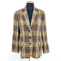 Bogner Tweed Blazer Damen Gr. 42 Mehrfarbig Bunt Kariert Business Jacke