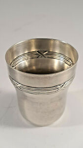 """Sterling Silver Baby Cup, Early 20th French, Louis XVI Stile, 1 5/8"""", 12.2 g."""