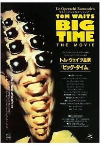 Tom Waits POSTER Big Time **LARGE** Promo Ad  Marc Ribot JAPANESE