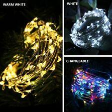 Solar LED Fairy String Light Outdoor Waterproof Garden Wedding Party Home Decor