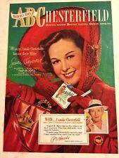 Susan Hayward, Chesterfield Cigarettes, Full Page Vintage Print Ad