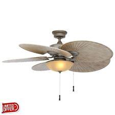 SALE Hampton Bay Havana 48 inch Outdoor Cambridge Silver Ceiling Fan