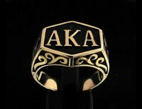 AKA - ALSO-KNOWN-AS-RING - PSEUDONYM - BRONZE - ANTIQUED - SIZE 12.0 - NEW!