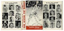 1957 NBA Basketball All Star Game Program