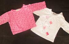 2x schöne Mädchen Langarmshirts Gr. 68 rosa weiß 100% Baumwolle
