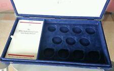 Große Münzkassette Münzen-Kassette Velourskassette blau