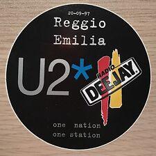 Adesivo Celebrativo U2 Concerto Reggio Emilia 20-09-1997, Radio DeeJay