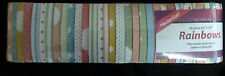 "Quilting fabric jelly roll 40 strips x 2.5"" pink blue green spots & stripes"