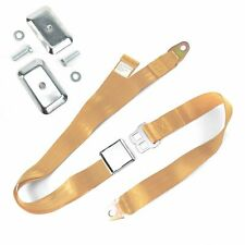 2pt Peach Airplane Buckle Lap Seatbelt w/ Flat Plate Hardware harness v8 rat