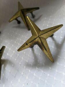 """Set of FOUR Mid Century Modern Handle Starburst Drawer Pulls Metal 3"""""""