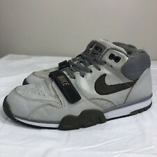 2004 Nike Air Trainer 1 Book of Ones Sterling Fog Charcoal Grey Men's 9.5 Swoosh