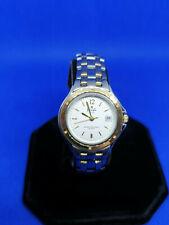 ladies pringle scotland silver tone bracelet watch,white face & gold hands.#b1.
