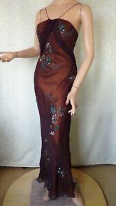 SIZE-12, MR K Stunning Silk Evening Dress.