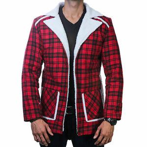 Deadpool Red Shearling Winter Fur Jacket/Coat For Mens