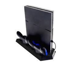 Vertikal PS4 Controller Ladestation Standfuß mit Lüfter 3x USB Anschluss schwarz