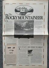 Rocky Mountaineer Newsletter Canadian Pacific 1990s
