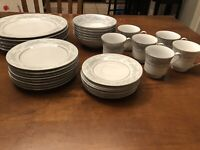 32 Piece Dinnerware Set Of Excel China In The Somerset Pattern, Made In China