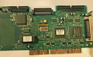 RARE VINTAGE ADAPTEC AHA-2942W EISA 50 PIN AND 68 PIN SCSI CARD FCC FGT27R2W