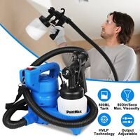 Electric Paint Painting Sprayer Gun 450W 3-ways W/Copper Nozzle+Cooling Sys