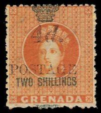 """GRENADA 32a (SG42) - Queen Victoria """"5.0mm Spacing"""" (pf31502)"""