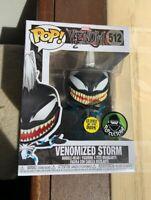 Venomized Storm GLOW GITD VENOM Funko Pop Vinyl New in Mint Box + Protector
