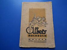 altes Kochbuch original Werbeheft Albers Kochbuch Verkaufstelle Krefeld Welfes