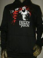 Mens L Freddy Krueger Jason Voorhees Friday the 13th Hoodie Nightmare On Elm St.