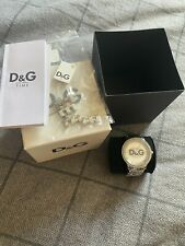 D&G Silver And Diamonte Bracelet Watch - Needs Battery