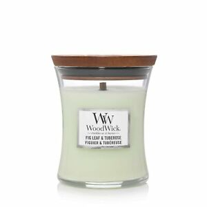 Woodwick Hourglass Scented Candle | Fig Leaf & Tuberose | with Crackling