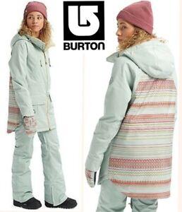 BURTON prowess snowboard jacket waterproof DRYRIDE vent zippers ski coat women M