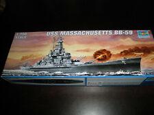 1/700 Uss Massachusetts Bb-59 Us Battleship by Trumpeter O
