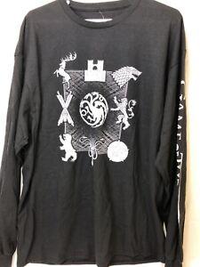 Game Of Thrones Mens M Long Sleeve T Shirt Black