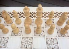 Large Wooden Chess Pieces. Felted Bottoms. Suitable To Pair With Our Chessboards