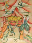 "Francoise Deberdt ""Circus Tiger"" Vintage 1979 Signed Lithograph, AP/EA with COA"