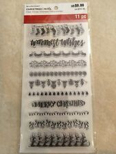 Holiday Borders Clear Stamps By Recollections™ 529288 CHRISTMAS 🎅🤶 NEW