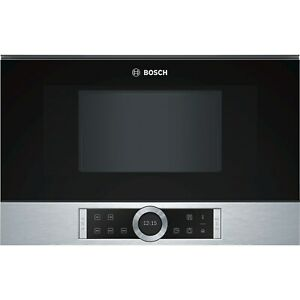 GRADE A1 - Bosch BFL634GS1B Serie 8 Built-in Standard Microwave in Stainless ste