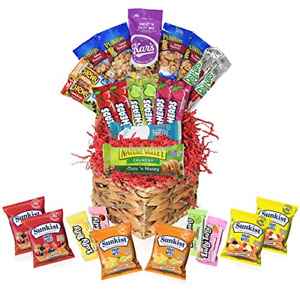 Mother's Day Heart Shaped Gift Basket - Snacks Candy Care Package Filled Wrapped