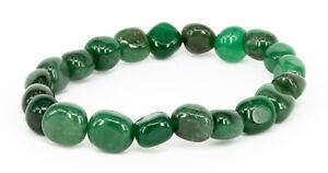 Aventurin grün Nuggetarmband Edelstein Nugget Armband elastisch 19cm Avanturin