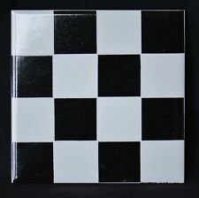 1960s tile - Chequer pattern, H&R Johnson vintage, Poole / Carter interest retro