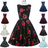New Retro Vintage Style 50s Pin Up Housewife Cocktail Party Prom Swing Tea Dress