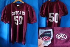 COUGARS VINTAGE FOOTBALL JERSEY MAGLIA TECHNO HIPSTER RAWLINGS LARGE YOUTH