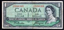 CANADA- 1 DOLLAR BANKNOTE 1954 PICK-75a VERY FINE