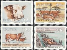Namibia 1993 Cattle/Farming/Boat/Animals/Nature/Food/Transport 4v set (n20151)